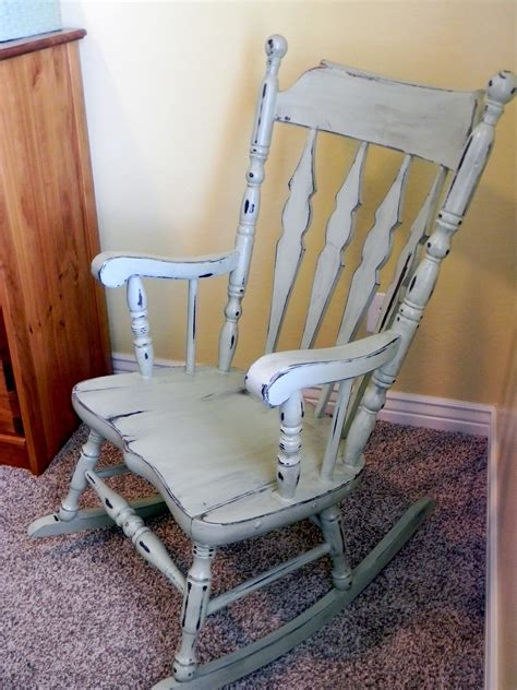 Distressed Wood Rocking Chair