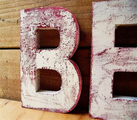 Distressed Wooden Letters Diy