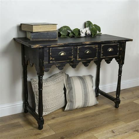 Distressed-Farmhouse-Accent-Table-With-Drawers