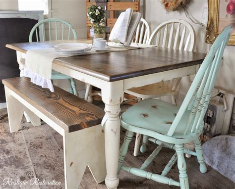 Distressed-Green-Farm-Table