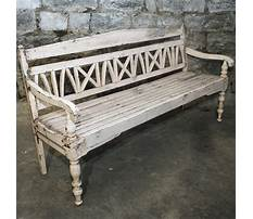 Best Distressed bench with back
