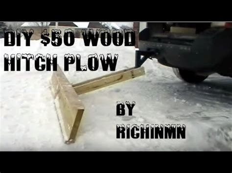 Diy $50 Wood Hitch Plow Light