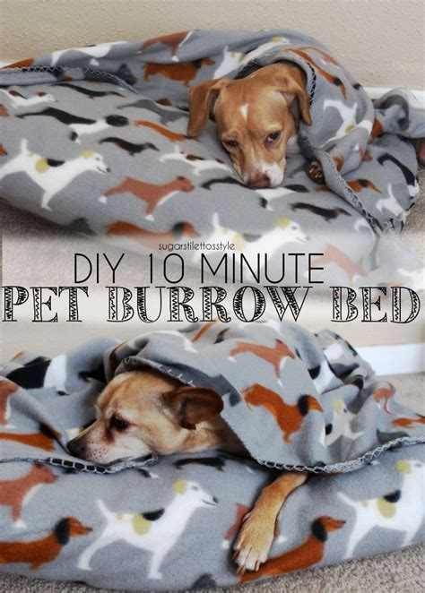 Diy 10 Minute Pet Burrow Beds