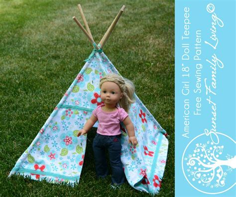 Diy 18 Doll Teepee
