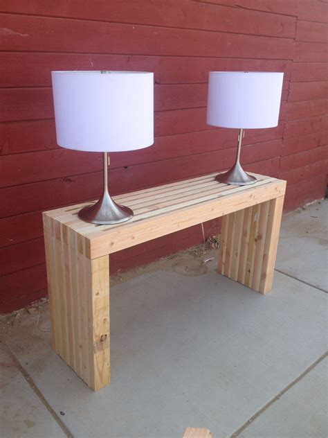 Diy 2x4 Console Table