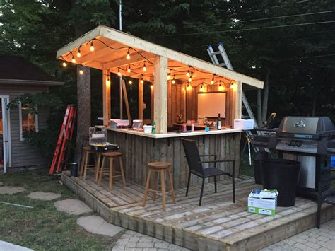 Diy 4x4 Wood Outdoor Tiki Bar