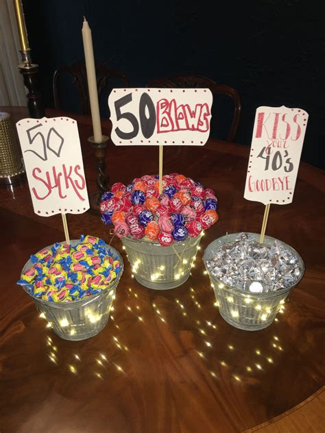 Diy 50th Birthday Party Centerpieces