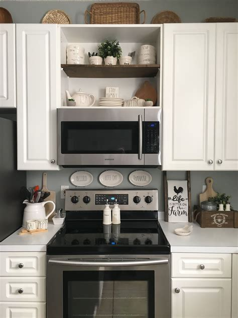 Diy Above Microwave Cabinet