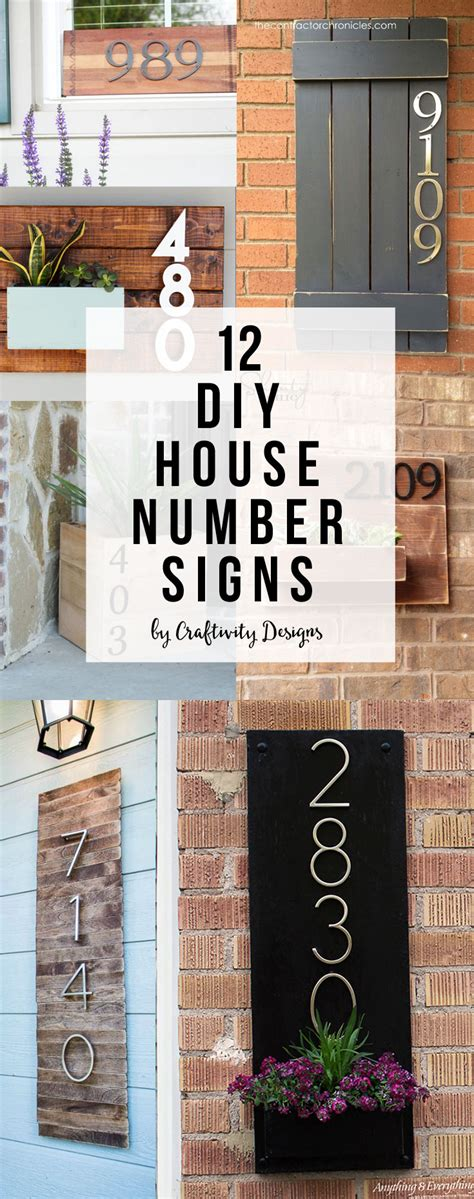 Diy Address Numbers