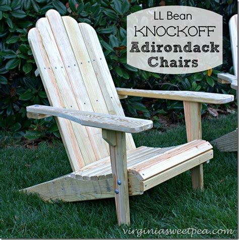 Diy Adirondack Chairs From Ll Bean