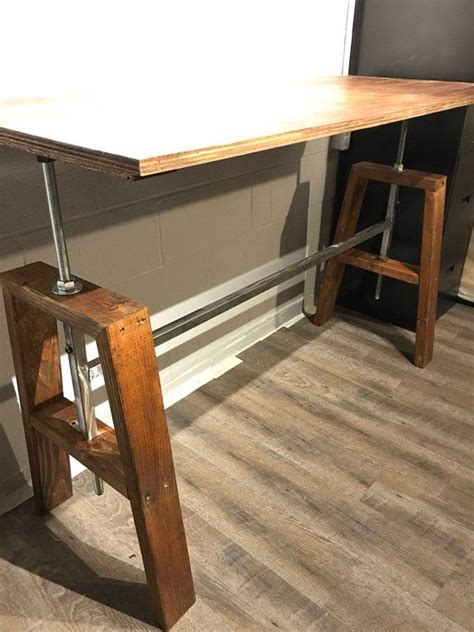 Diy Adjustable Height Wood Desk