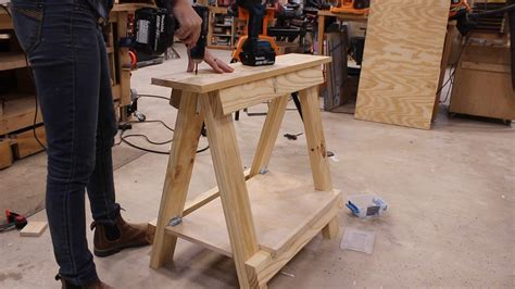 Diy Adjustable Sawhorse Stands