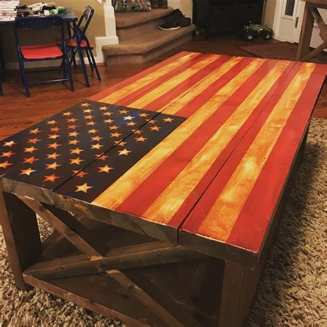 Diy American Flag Table