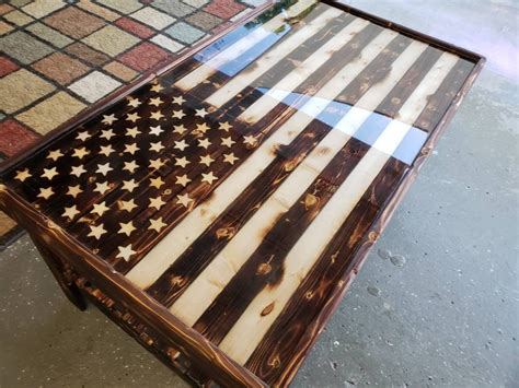 Diy American Flag Table Safe