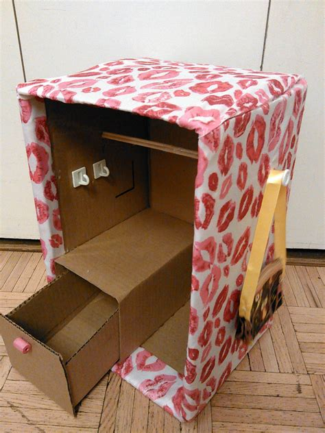 Diy American Girl Closet Out Of Cardboard Box