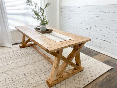 Diy Angled U Table Base Dining Table