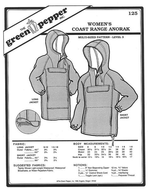 Diy Anorak Pattern Sewing