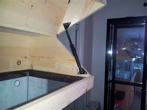 Diy Aquarium Hinged Wood Canopy Youtube Video