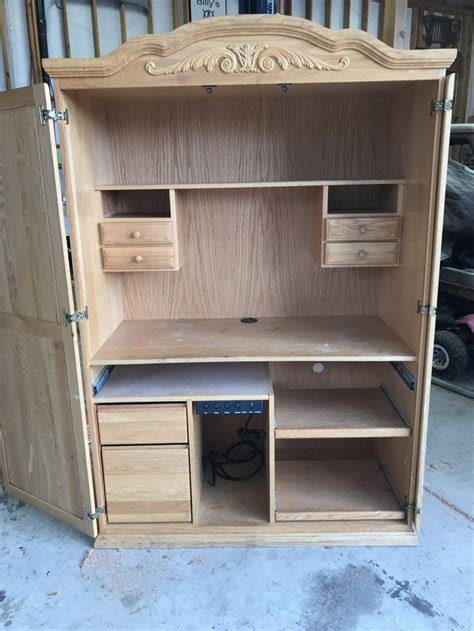 Diy Armoire Craft Cabinet