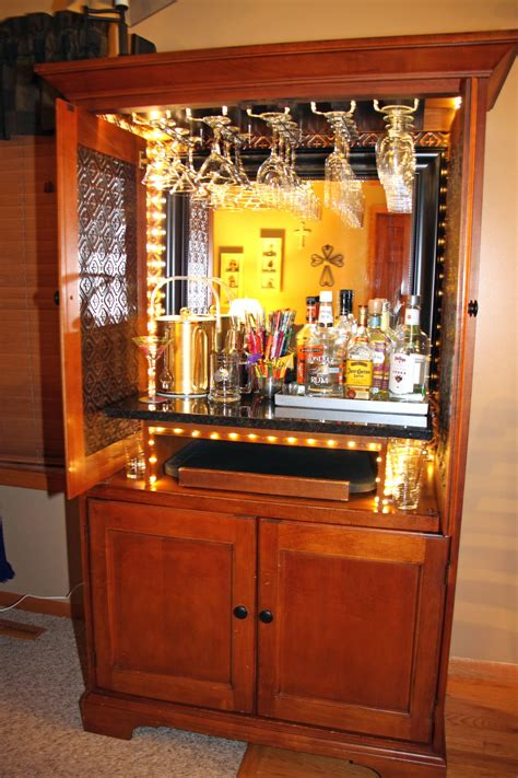 Diy Armoire Into Bar