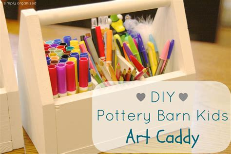 Diy Art Caddy For Kids