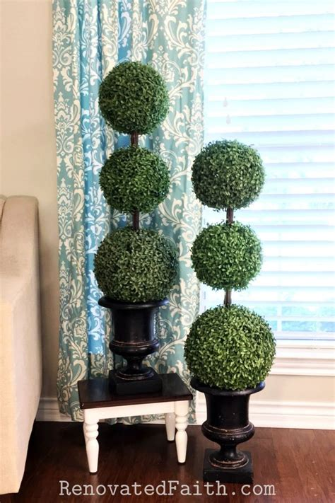 Diy Artificial Outdoor Topiary