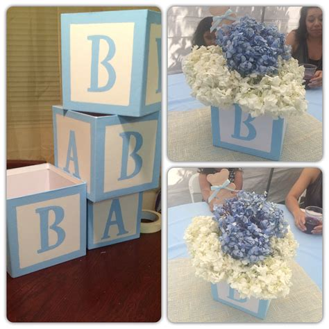 Diy Baby Blocks Centerpieces