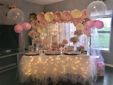 Diy Baby Shower Dessert Table Backdrop With Frame