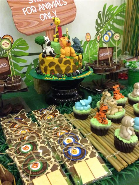 Diy Baby Shower Jungle Candy Stand For Baby