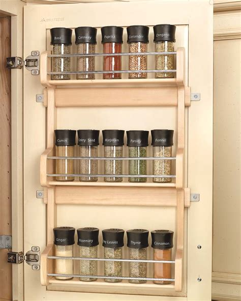 Diy Back Of Door Spice Rack