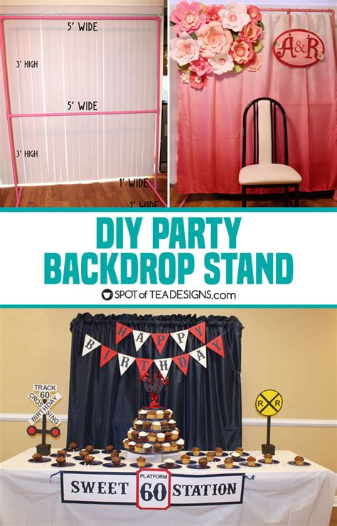 Diy Backdrop Stand For Birthday Party