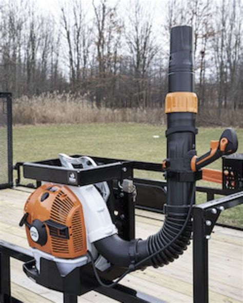 Diy Backpack Blower Rack Enclosed Trailer