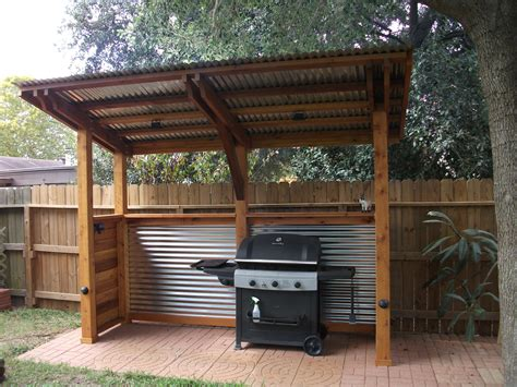 Diy Backyard Barbecue Covered Station