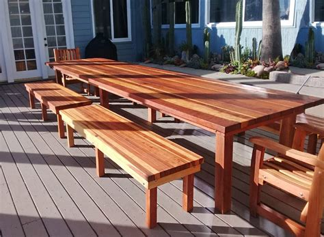 Diy Backyard Redwood Table Pics