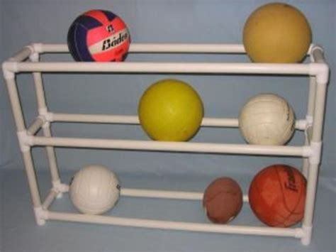 Diy Ball Rack From Pvc