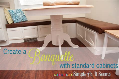 Diy Banquette Seating Out Of Cupboards