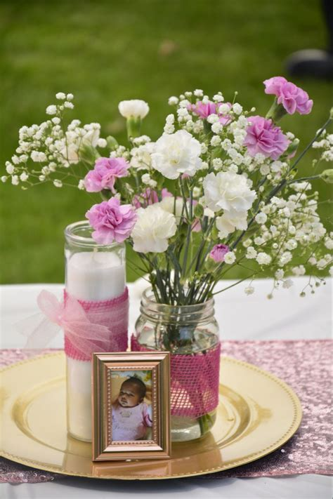 Diy Baptism Table Centerpieces