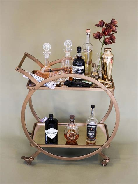 Diy Bar Cart Rose Gold Paint