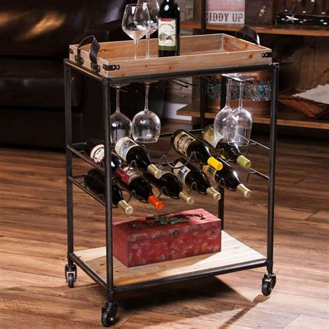 Diy Bar Cart Wine Rack