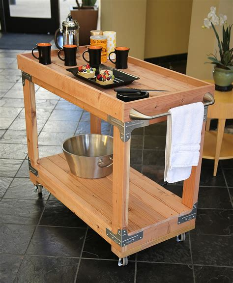 Diy Bar Cart Wood