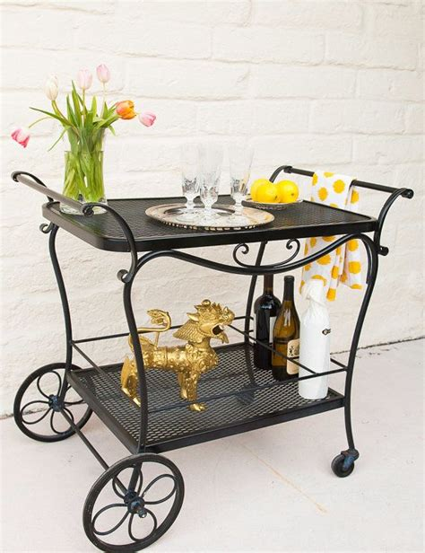 Diy Bar Cart Wrought Iron