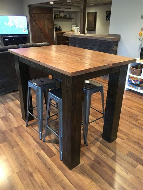 Diy Bar Height Table And Chairs