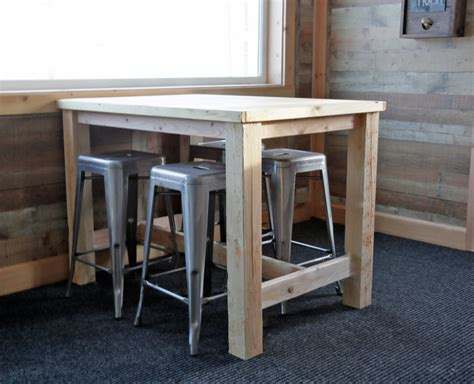 Diy Bar Height Table For 2