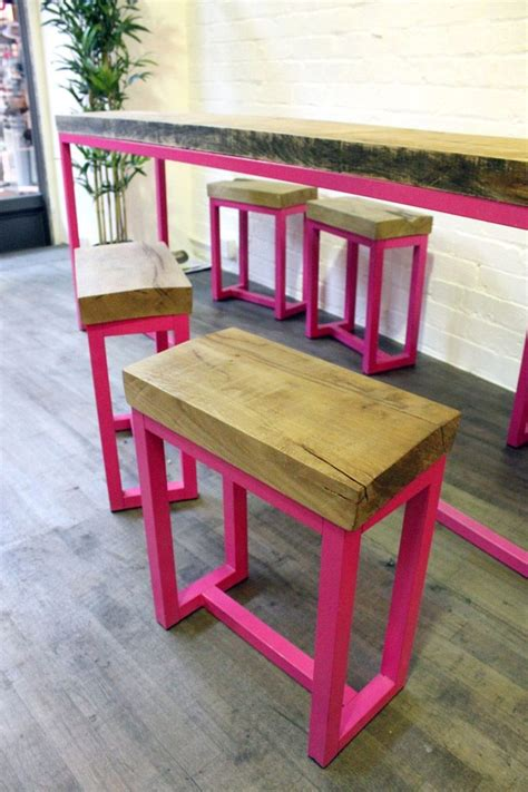 Diy Bar Stools Pinterest Food