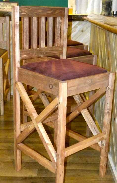 Diy Bar Stools Rustic