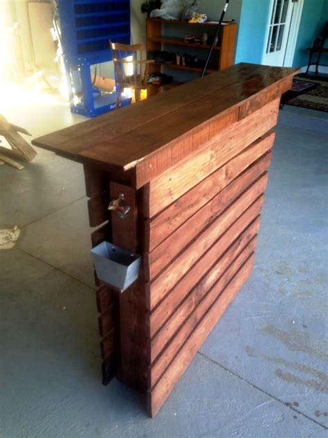 Diy Bar Table Out Of Pallet
