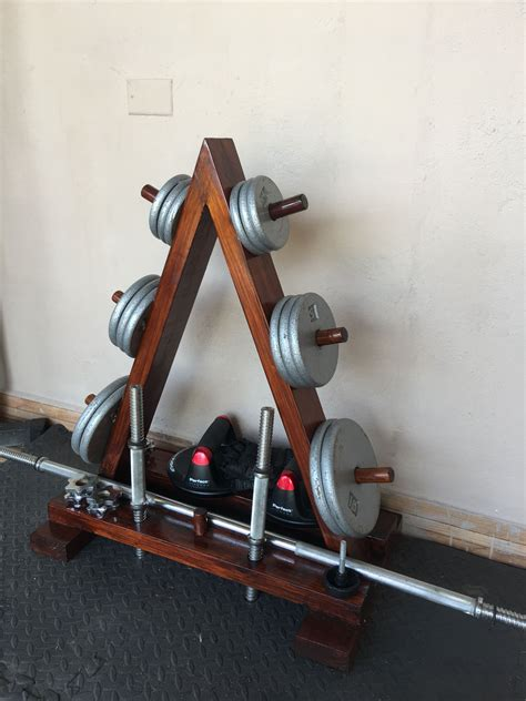 Diy Barbell Rack Wood