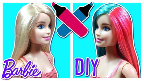 Diy Barbie Doll Hair