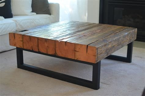 Diy Barn Beam Coffee Table