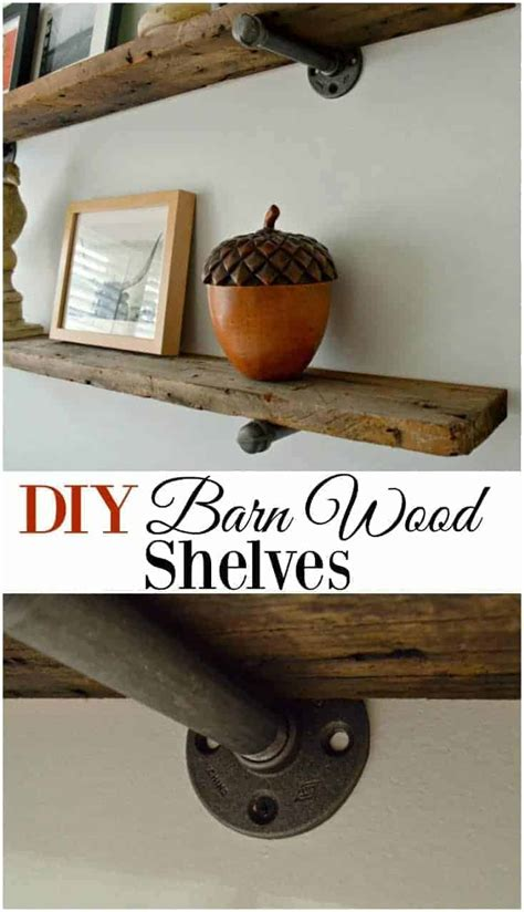 Diy Barn Board Shelves